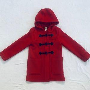 GAP Girl Toggle Coat Wool Hooded Jacket Sz L 10-12